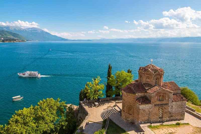 Church of St. John at Kaneo. Ohrid, Macedonia.
