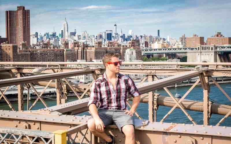 Photo of Author on the Brooklyn Bridge