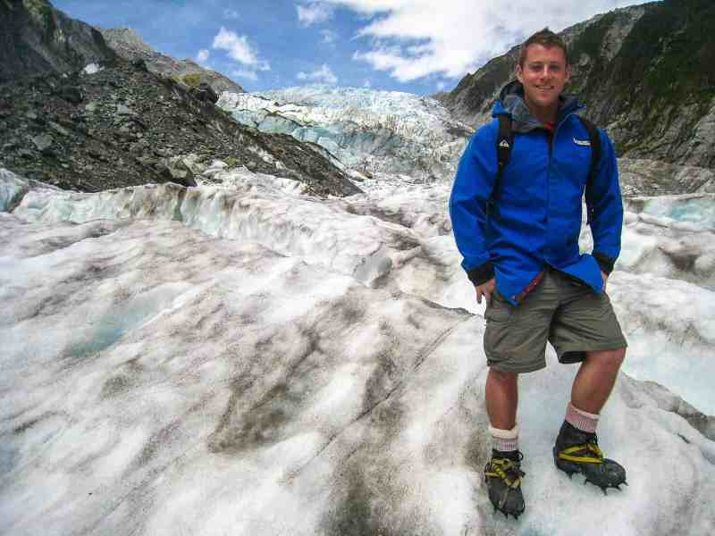 Photo of Author on a Glacier