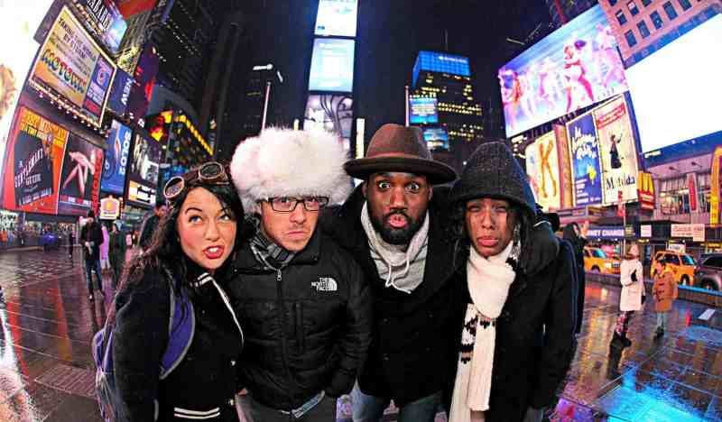 Photo of Author with Friends in Times Square