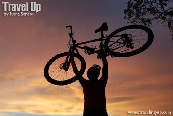 corregidor island philippines biking sunset silhouette