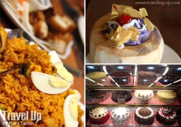 red platter naga city paella halo-halo cakes