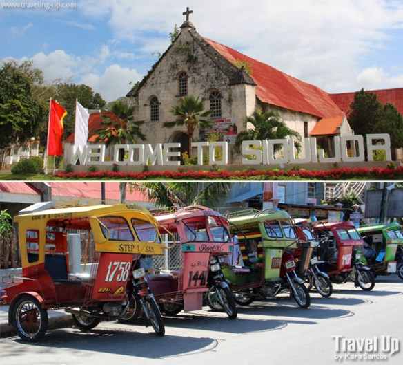 04. siquijor church and tricycles
