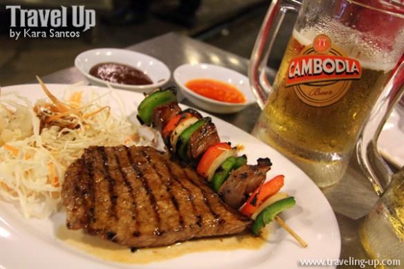 grilled pork kebab bbq and khmer food siem reap cambodia