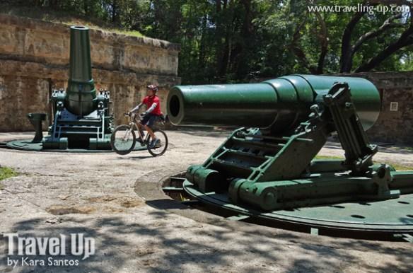corregidor island philippines biking cannons at battery way