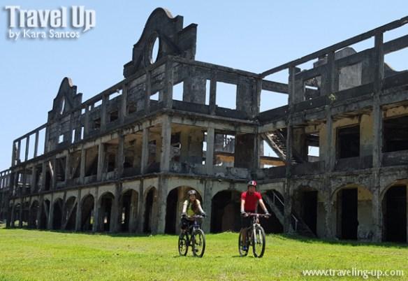 corregidor island philippines biking ruins near cine corregidor