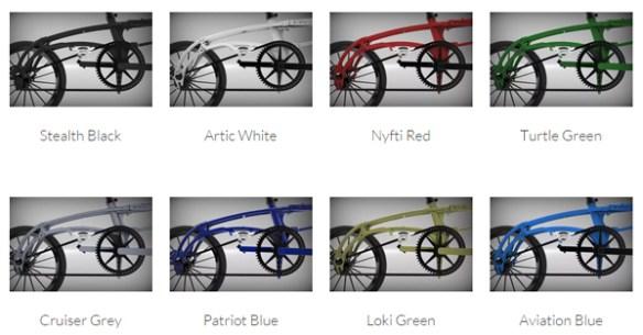 nyfti folding bike colors