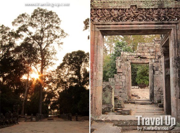 biking day 2 cambodia angkor archaeological park preah khan trees door