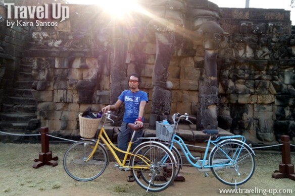biking day 2 cambodia angkor archaeological park terrace of the elephants bikes