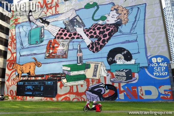 retro mural by faile BGC motorcycle