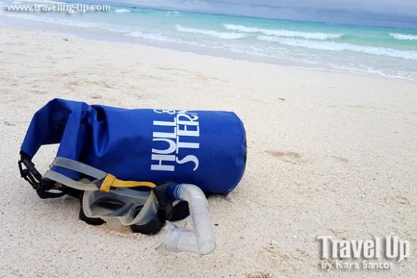 hull & stern dry bag beach camiguin