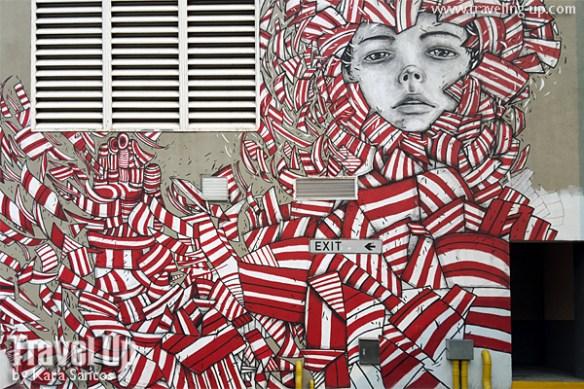 pangako anjo bolarda red white artwork BGC murals