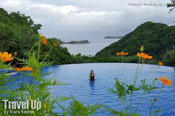 tugawe cove resort caramoan infinity pool flowers
