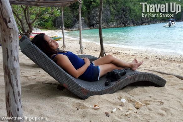 tugawe cove resort caramoan beach lounge chair