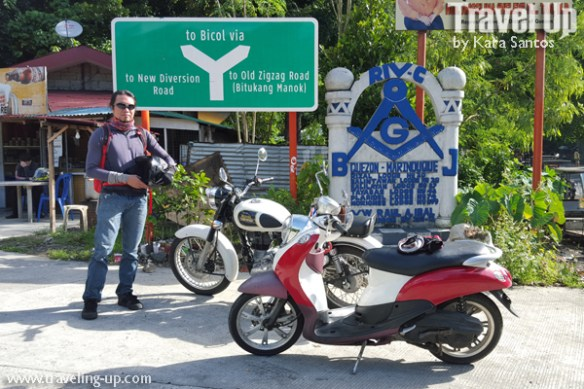 motorcycle manila to naga bicol diversion road sign