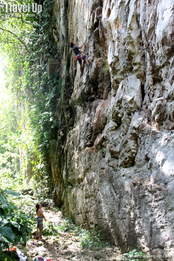 rock climbing cantabaco cebu belay