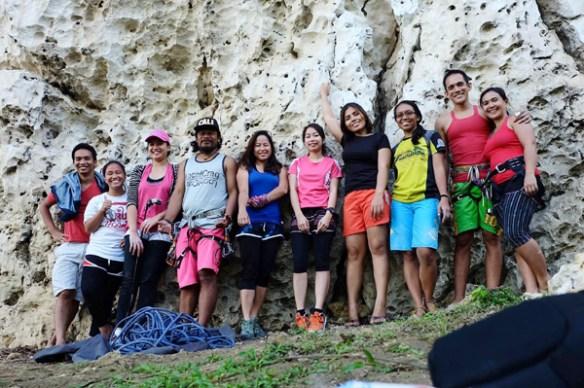 rock climbing poog cebu bloggers group shot