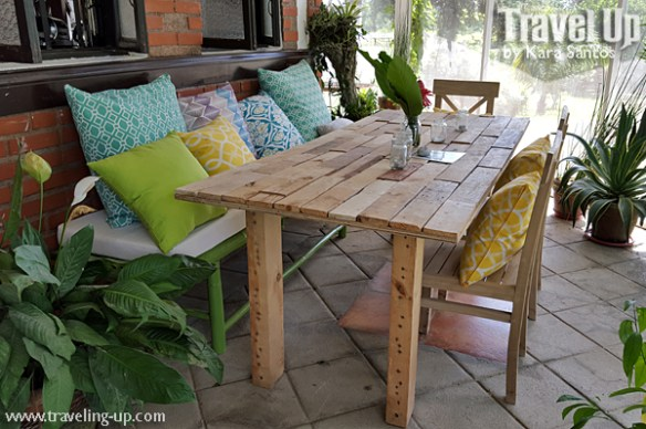 stay at the plant bistro tagaytay porch table