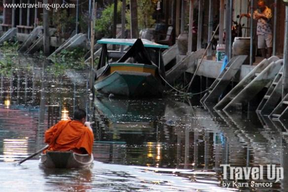 amphawa thailand river monk boat
