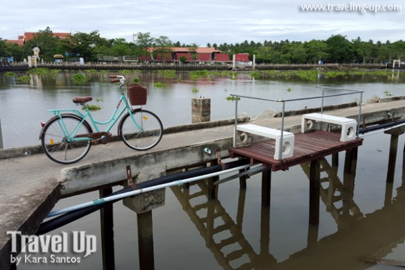 bicycle amphawa thailand riverside walkway