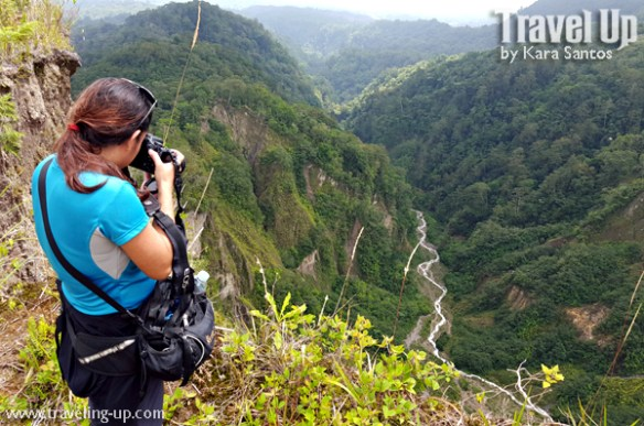 trail to lake holon south cotabato overlooking river