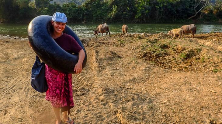 River Tubing in Pho Kam, Laos
