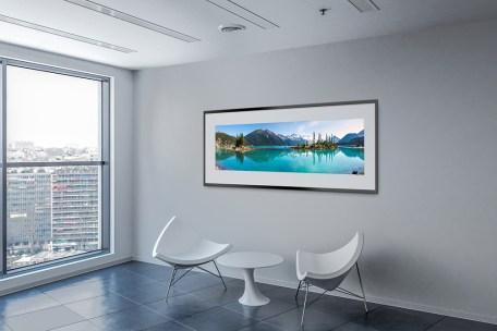 Garibaldi Lake Panoramic Print in Office