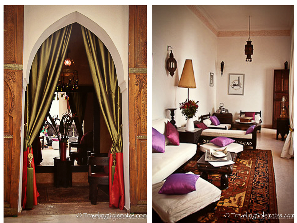 Marrakesh Riad Habiba Dining Room and Sitting Area-