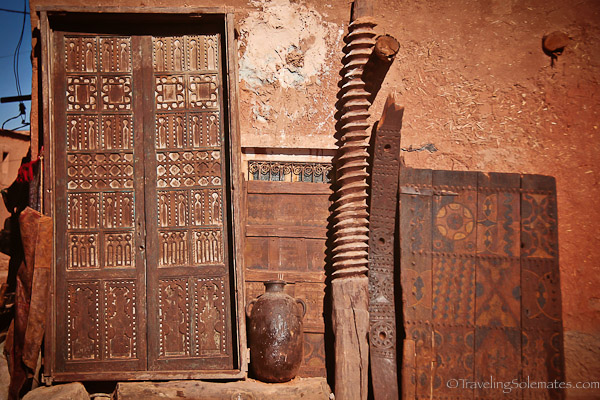 antiques against a wall in Tamdaght Morocco