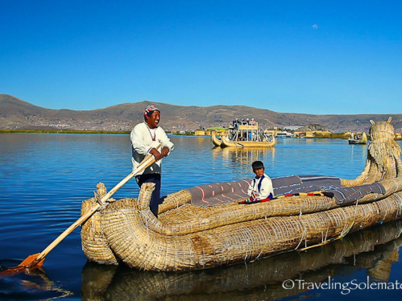 Reed Boat, Floating Island of the Uros, Lake Titicaca, Peru