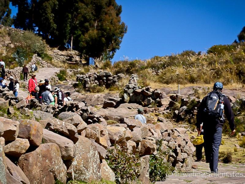 Hiking on Taquile Island, Lake Titicaca, Peru