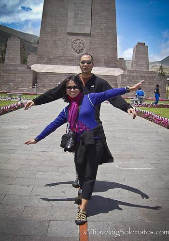 Straddling the equator in Ecuador