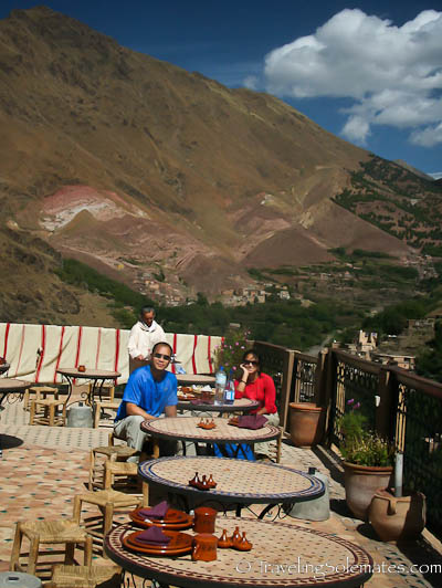 Lunch at Kasbah du Toubkal, Atlas Mountain, Morocco