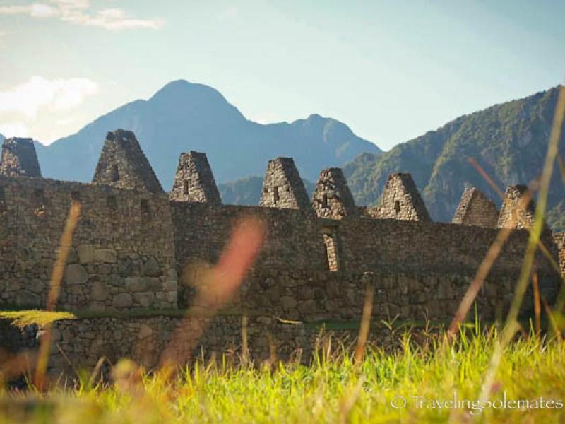 Residential area in Machu Picchu