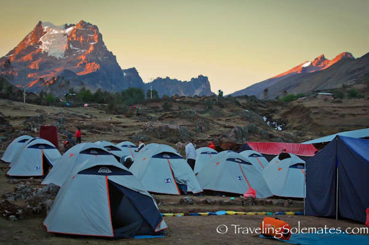 Campsite in Cuncani, Lares Valley Trek Peru