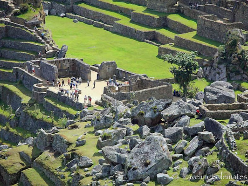 View of Sacred Plaza and the Main Plaza in Machu Picchu