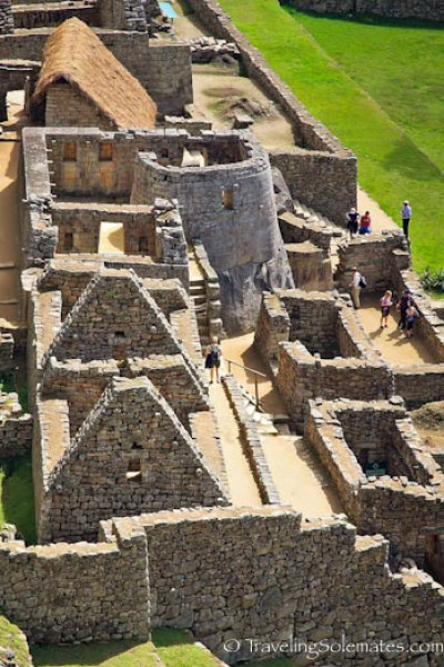The ceremonial baths and Temple of the Sun in Machu Picchu