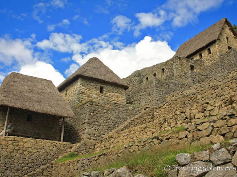 Thatched structures in Machu Picchu