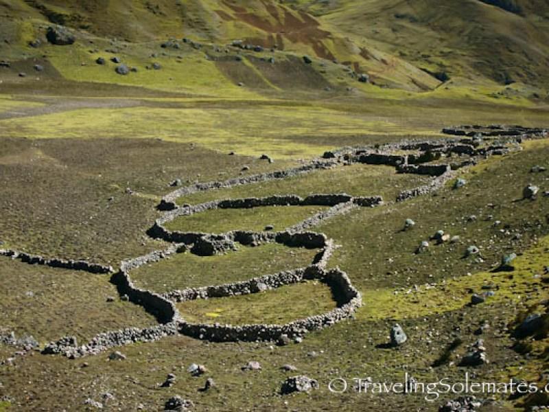 Animal enclosures, Lares Valley Trek Peru