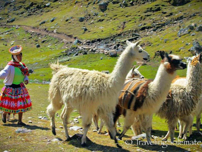 View of Villages from Lares Valley Trek Peru