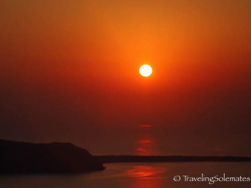 Sunset in Imerovigli, Santorini, Greece