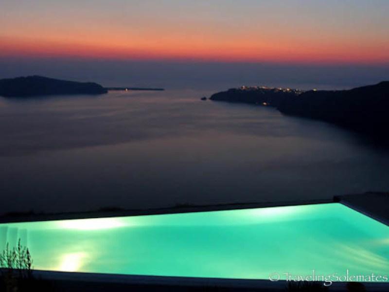Infinity Pool at Anastasis Apartment, Imerovigli, Santorini, Greece