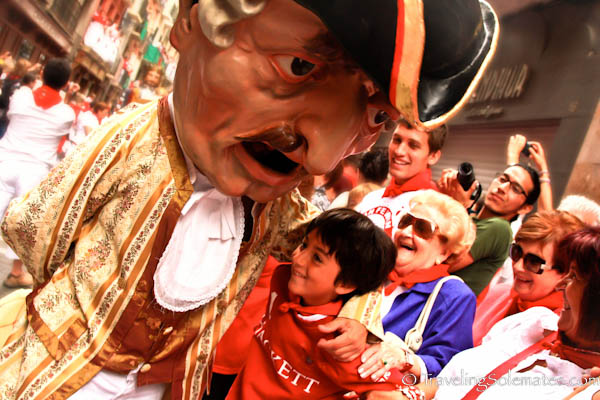 The Kilikis at the Procession, Fiesta de San Fermin, Pamplona, Spain