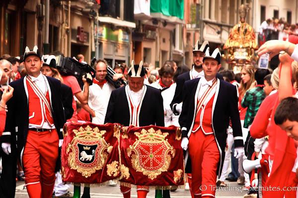 The Procession,  Fiesta de San Fermin, Pamplona, Spain