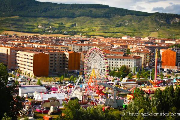 The funfair or Las Barracas, Fiesta de San Fermin, Pamplona, Spain