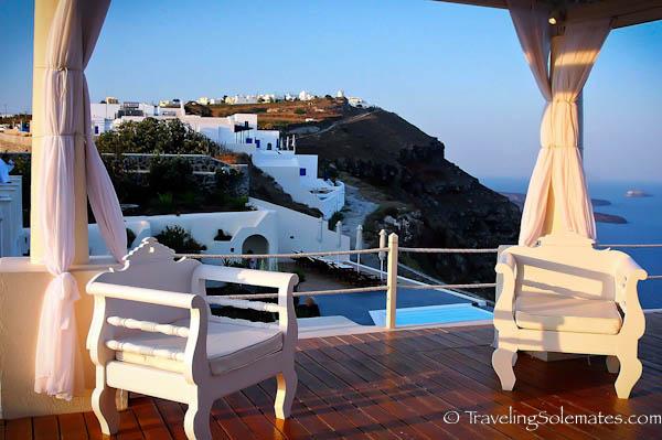 View from Deck of Anastasis Apartment, Imerovigli, Santorini, Greece