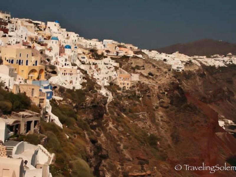 Oia, a village of a cliff in Santorini, Greece