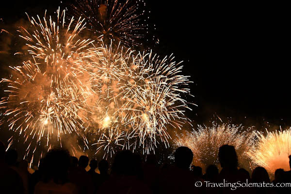 Fireworks at Fiesta de San Fermin, Pamplona, Spain
