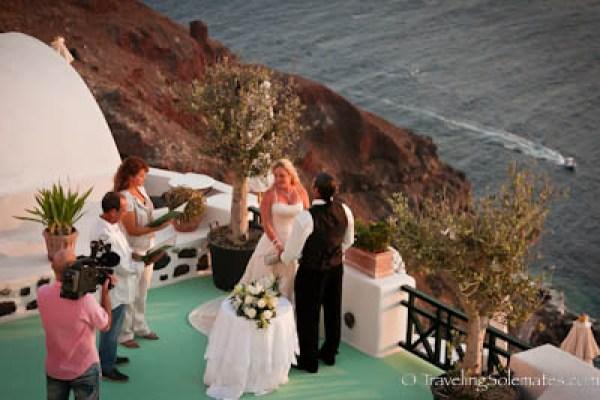 Wedding in Oia, Santorini, Greece