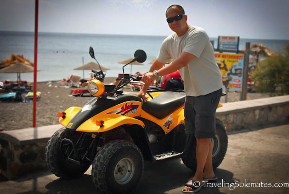 ATV in Santorini, Greece